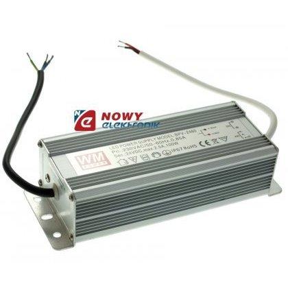 Zasilacz ZI LED 24V/2,5A IP67 Al 60W Impulsowy