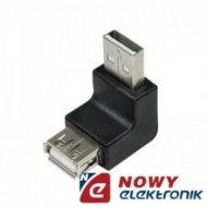 Przejście USB A-wt/A-gn kątowe adapter