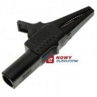 Krokodyl BEZP KK262-BK gn. 4mm czarny 10A 1000V kat.III
