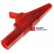 Krokodyl BEZP KK262-R gn. 4mm czerwony 10A 1000V katIII