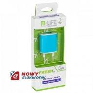 Ładowarka USB sieciowa z adapt. 1A M-Life