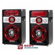 Zestaw głośnikowy DJ-601 INTEX FM,MP3/SD/USB 30+30W  (kolumna)