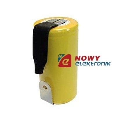 Akumulator do pakietu 4/5SCZB 1400mAh 1,2V (z blaszk.) 22x33mm