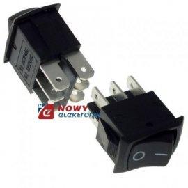 Przełącznik MRS202-3C3B ON-ON 2-tory czarny klawiszowy/kołysk.