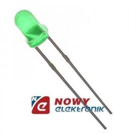 Dioda LED 5mm ZIELONA 12V mat. 68-90mcd 60° r-2,54