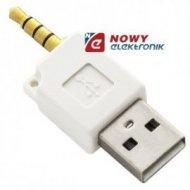 Przejście USBwt.A/wt.jack 3,5 4p Adapter kabel ładowarka USB iPod SHUFFLE