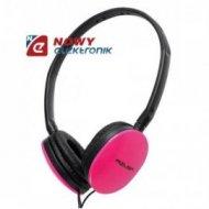 Słuchawki nauszne AZUSA SN-160 R różowe    Jack 3,5