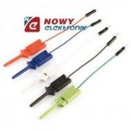 Kabel do płytek styk.1p m/chwyt. 25cm(zestaw 5szt)wt.BLS/chwytak
