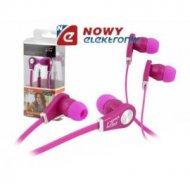 Słuchawki LTC60 douszne wt.3,5st różowe
