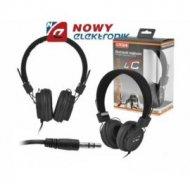 Słuchawki LTC64 nauszne czarne jack 3,5mm