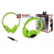 Słuchawki LTC59 nauszne zielone jack 3,5mm