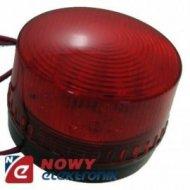 Sygnalizator optyczny HC05RD 12V DC, LED czerwony błyskowy