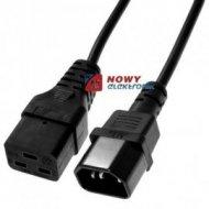 Kabel zasil.C14-C19 1,0m komput serwerowy