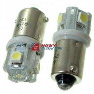 Dioda LED BA9S 1+4SMD W 12V BAX9S-09-W biała