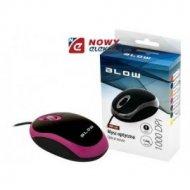 Mysz optyczna BLOW MP-20 różowa USB