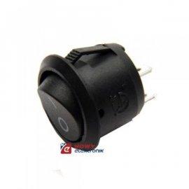Przełącznik okr.czarny 2pin/2poz on-off  odp.R17-2AP R13 kołyskowy