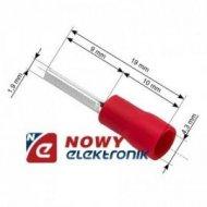 Konektor Tuleja kabl.izol. 19mm czerwona na kabel 4,3mm