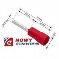 Konektor Tuleja kabl.izol. 20mm czerwona na kabel 4,3mm