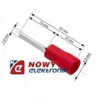 Konektor Tuleja kabl.izol. 23mm czerwona na kabel 4,3mm