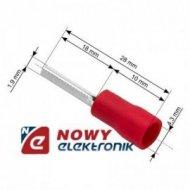 Konektor Tuleja kabl.izol. 24mm czerwona na kabel 4,3mm