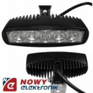 Lampa LED halogen 5x3W 9-80V IP68 reflektor led car listwa