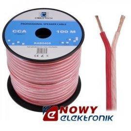 Przewód głośnik. 2x1,5 CCA extra Cabletech