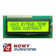 Matryca LCD AC1602E-YLY Y/G-E12 podświetlana Green 2x16