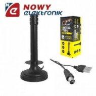 Antena samoch.LTC TV CAR DVB-T USB magnetyczna