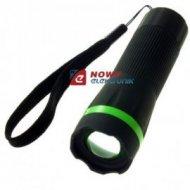 Latarka ręczna 1LED TS1181 ZOOM 3xAAA czarna