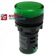 Kontrolka LED 24V zielona   22mm AD16