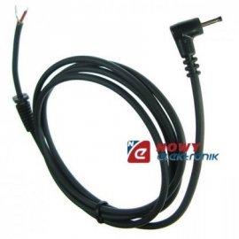 Wtyk DC 0,7/2,35k przew.1,5m PRO ESPE kątowy 1x1mm+ek