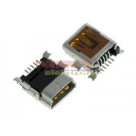 Gniazdo mini USB-B kątowe SMD MOLEX oryginal.
