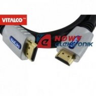 Kabel HDMI 3m chrom 7.3mm
