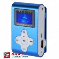 Odtwarzacz MP3 QUER z LCD nieb. fun.dyktafonu/radio FM (AC309)