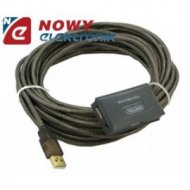 Kabel USB wt.A/4gn.A 10m--k88834 ze wzmacniaczem Unitek Y-261 z hubem 4p.