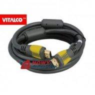 Kabel HDMI 5m złote s/ż szaro/żółte