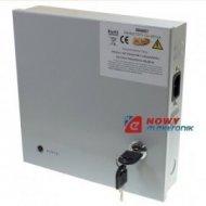 Zasilacz zbiorczy 12V 10A CCTV9 potrójne zabezpieczenie 9 wyjść obudowa