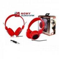 Słuchawki LTC57 nauszne czerwone jack 3,5mm
