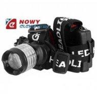 Latarka czołowa XM-L T6 CREE 10W LED zoom  profesjonalna