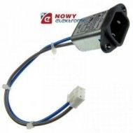 Wtyk komp. montażowy 2-pinowe z filtrem 2x1.5mH+0,1uF(x2) do obudowy