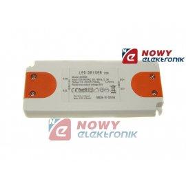 Zasilacz ZI LED prąd. 700mA 20W 22-32V plastik CC Driver