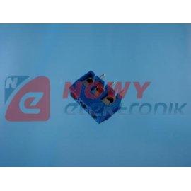 Listwa ARK TB500-3/BL zaciskowa 3 pola r-5 h-10 niebieska (-+)