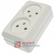 Gniazdo elektr podw N/T bez uz. gn. polskie (26) biały
