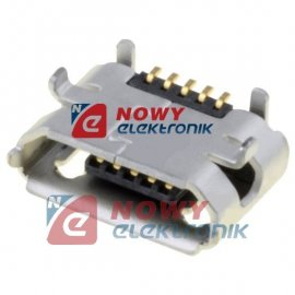 Gniazdo USB B micro montażowe 5p typ B na PCB