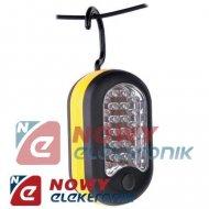Lampa warsztatowa z magn. 24+3L 27l LED