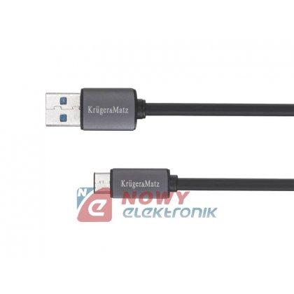 Kabel USB Wt.A-USB-C 0,5m 5G K&M USBC wtyk-wtyk Kruger&Matz