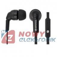 Słuchawki douszne TH109 z mikr. czarne