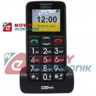 Telefon GSM MAXCOM MM432 BB  szaro czarny dla Seniora