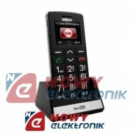 Telefon GSM MAXCOM MM705BBczar. czarny dla Seniora