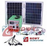 System Solarny mini1220 20W/12V z inwerterem 150W kpl. zestaw PV